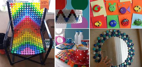 Bricolage Con Bottiglie Di Plastica.Tappi Di Plastica 16 Coloratissime Idee Fai Da Te Per